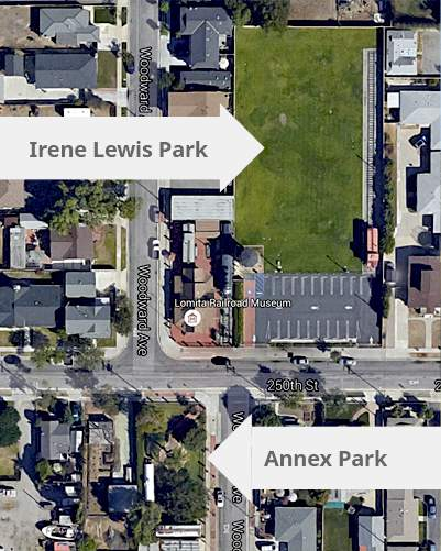 Aerial view of Irene Lewis and Annex parks