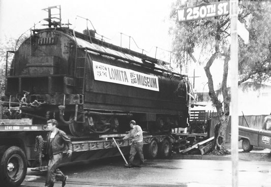 Southern Pacific Tender delivered to the Lomita Railroad Museum