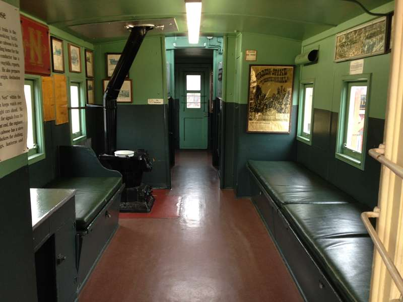 Inside the Union Pacific Caboose